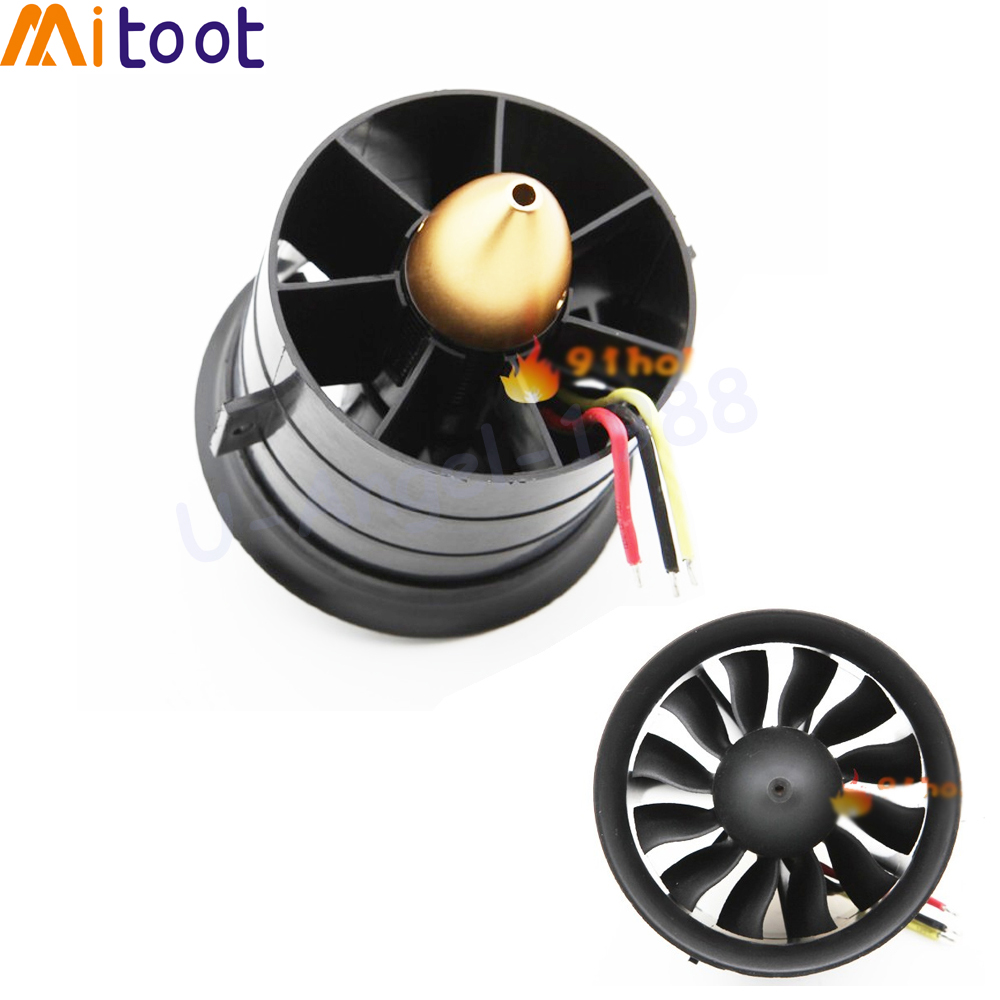 1set 64mm 70MM 90MM 120MM 12 Blades Ducted Fan System EDF For Jet Plane with Brushless Motor RC Plane EDF RC Helicopter(China)