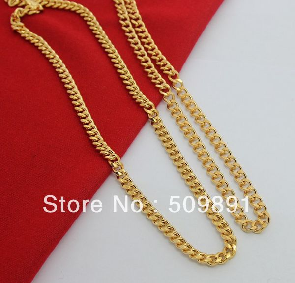 SE693 New Trendy 24 Carat Gold Colou 7mm 6.4mm Chain Necklaces Sets Designer Best Selling Jewelry Accessories Gifts(China)
