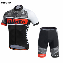 Buy MILOTO Mens Sport Pro Team Cycling Jersey Sets Bike Bicycle Bib Shorts Ropa Ciclismo Short Sleeve Clothing for $25.88 in AliExpress store