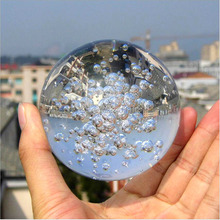 Crystal Glass Bubble Ball Asian Quartz Marbles Sphere Fengshui Paperweight Crafts Home Decor Ornaments Fountain Dedicated Round