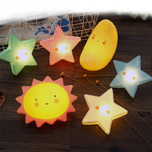 New Novelty Sun Moon Star Shape Night Light Silica gel Night Lamp for Bedroom Nursery Mini Lamps Kids Gift Home Decor
