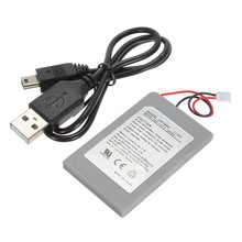 1800mAh Replacement Battery Power Supply + USB Data Charger Cable Cord Pack for Sony for Playstation 3 PS3 Controller