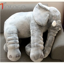 TOFOCO 40/ 60cm Height Soft Large Plush Elephant Doll Toys Kids Comfort Doll Sleeping Cusion Plush Animals(China)