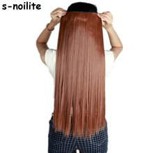 58-76cm Synthetic Clip In Hair Extension Heat Resistant Hairpiece Natural Straight Hair Extensions