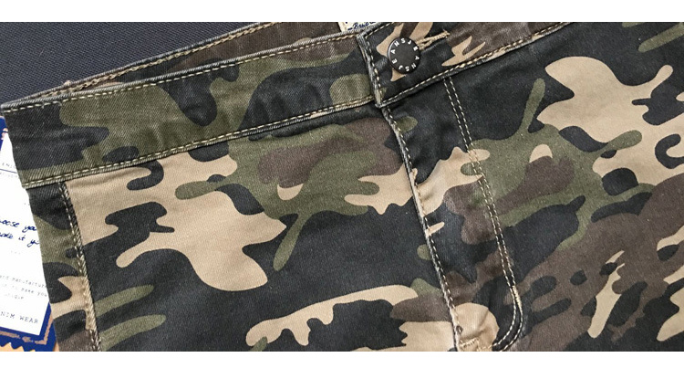 2017 New Brand Women Fitness Cloth Camouflage High Waist Elastic Stretch Holes Jeans Pencil Pants Street Style Denim Trousers (17)