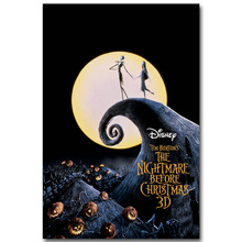 The Nightmare Before Christmas Art Silk Poster Print 13x20 24x36 inch Cartoon Movie Picture for Room Wall Decor Jack Sally 006