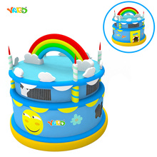 Birthday Cake Commercial Inflatable Bouncy Castles Bouncer Jumper for Party