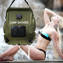 camp shower  Water Bag 20L portable Outdoor with thermometer 2016 new shower bag Solar Shower  Camping showers free shipping