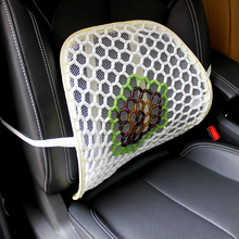 Summer Glass Car Seat Back Pad breathable Waist Cushions Car Lumbar Pillow Hand Hook Cool and Breathable Car Cover