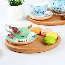 Creative European Style Wooden Tray Round Solid Wood Breakfast Pizza Plate Japanese Flat Plate Home