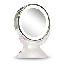 LED Cosmetic Mirror LED Lights Makeup Mirror 5X Magnifying Makeup Mirror 360-degree Rotating Mirror For Bathroom Bedroom(China)