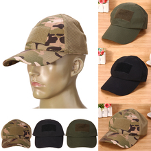 Adjustable Camouflage Unisex Tactical Hat Army Hiking Male Hats Summer Camping Fishing Bionic Baseball Cadet Military Cap(China)
