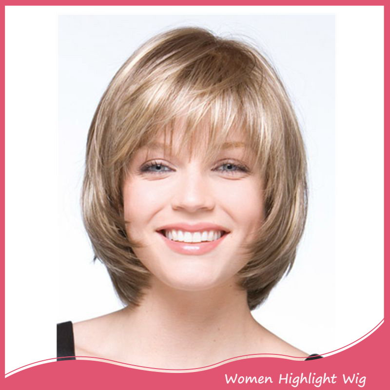 Short Curly Bob Wig With Thin Air Bangs for American Women Cheap Synthetic Fake Hair bob Wig Heat Resistant Realistic Wig<br><br>Aliexpress