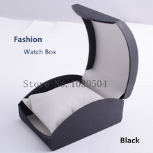 Wholesale Plastic Watch Box Black High Grade Brand Watch Case With Pillow Fashion Luxury Brand Watch Gift Box