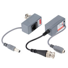 2pc BNC Connector Coaxial Cable Adapter CCTV Camera Passive Video Balun Transceiver Connector free shipping