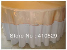 "free shipping /90"" round organza table overlay//wedding table overlay /gold  tablecloth"