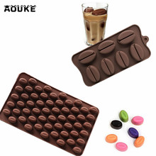 Aouke Two Kinds Of Coffee Beans Chocolate Sugar Candy Mold Mould Cake Decor L133/L159