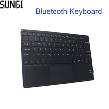 Mini Keyboard Wireless Bluetooth 3.0 Ultra Thin Multi-touch BT With Touchpad Keyboard For Tablet PC Laptop ipad Mobilephone(China)