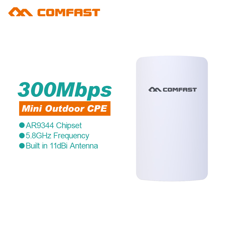 2Pc Comfast mini Wireless outdoor router 5.8G 300M WIFI signal booster Amplifier Network bridge 11dBi Antenna wi fi access point<br>