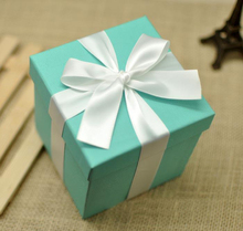 20pcs/set 10cm*10*10cm Tiffany Blue decoration Gift boxes theme wedding romantic Baby Shower home party decoration Gift boxes