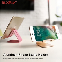 RAXFLY Universal Mobile Phone + Tablet PC Stand Holder Aluminum Alloy Charging Dock Support Cradle Travel Mini Portable Holder