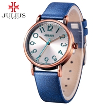 New women fashion casual antique sports best gift cheap watch Hot ladies original  leather retro watches Famous brand Julius 911