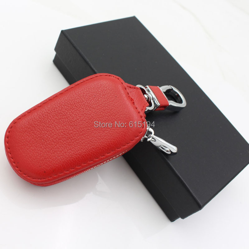 Car Leather key Bag Cases for Opel Hyundai toyota LADA bmw e39 e46 Ford volkswagen peugeot holder keychain Covers(China)