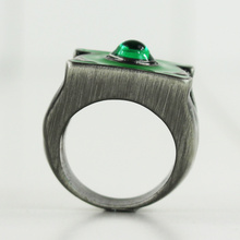 2cm Green lantern ring stainless steel jewelry high quality with crystal toy figures free shipping