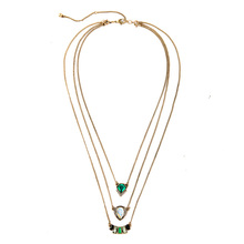 Multilayer Inlay Crystal Green Jewelry Brand Designer Pendant Necklace Small Mixed Batch of Factory Outlets