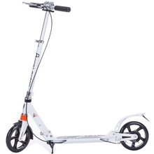Adult scooter with double shock absorption system double brake and 200mm big wheel adult foldable kick scooter