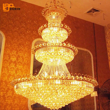 new luxury crystal chandeliers modern large hall chandeliers LED light fixtures