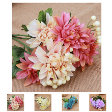 Buautiful Artificial Flower Wedding Home Decor Bouquet Dahlia Silk Flower Fake Flower