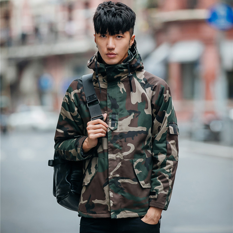 Fashion camouflage hooded parkas coat men thickening warm cotton-padded winter jackets mens mens clothing size m-5xl MF14-1Îäåæäà è àêñåññóàðû<br><br>