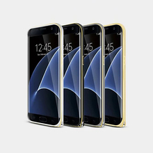 S7Edge Double Color Aluminium Metal Bumper Frame Cover Case For Samsung Galaxy S7 Edge Luxury 3D Curved Design Mobile Phone Skin