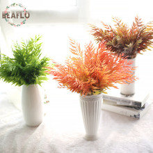 1Bunch Artifical Plant Maple Leaves Grass Real Touch Houseplant Floristry For Wedding Home Decorative 3 Colors(China)