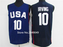 #10 Kyrie Irving #13 Paul George Dream Team usa Basketball Jersey Embroidery Stitched Custom any Number and name(China)