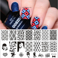 1 Pc Vintage Theme Love Nail Art Stamp Template Image Plate BORN PRETTY Nail Stamping Plate BP-L016