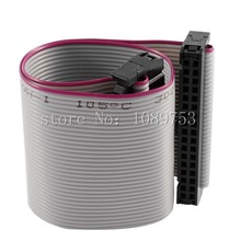 10pcs FC-34P 34 Pins 2.54mm Pitch 20cm JTAG AVR Download Cable Wire Connector Gray Flat Ribbon Data Cable
