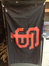 3x5FT banner MLB SF giants logo Flag 150X90CM 100D Polyester brass grommets custom flag, Free Shipping(China)