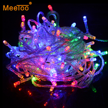 10M Waterproof 220V 100 LED Holiday Decoration String lights 9 Colors For Christmas Wedding Party Festival Free Shipping(China)