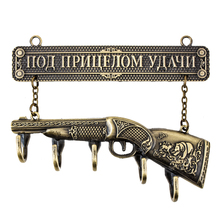 House ornament Vintage hanging wall hooks robe hooks gun design clothes hanger metal crafts decoration souvenirs gift for hunter