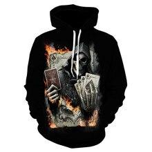 YXYM 2018 moda calidad hombres 3D impresión póker calavera Sudadera con  capucha nueva marca divertida impresión Hip Hop Hoodie h. 075cadbab5c
