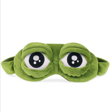 Funny 3D frog Sleeping Eye Mask Portable Travel Eye Shade Bandage on Eyes for Sleeping MR084(China)