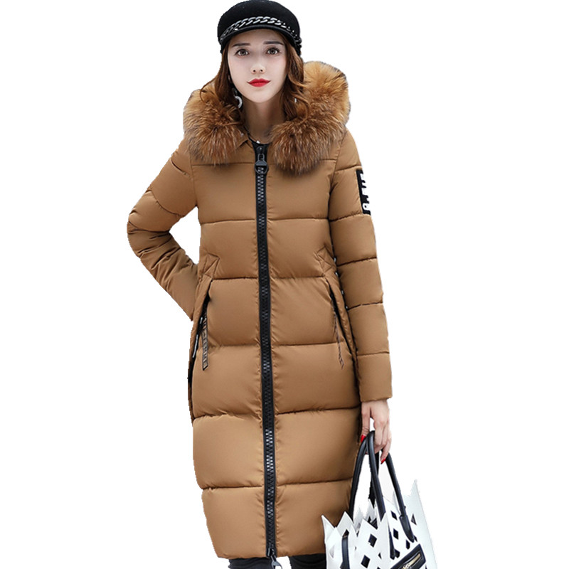 High Quality Women Winter Large Fur Collar Down Wadded Jacket Female Cotton-padded Jackets Thickening Women Winter Coat CM1291Îäåæäà è àêñåññóàðû<br><br>