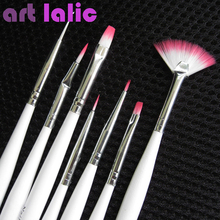 7 Pcs White Nail Art Design Painting Pen Polish Brush Dotting Set Hot Sale High Quality Brushes