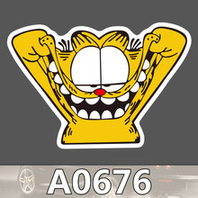 A0676 Garfield Sharp Claw Waterproof Sticker Cool Laptop Luggage Fridge Skateboard Graffiti Cartoon Notebook Stickers