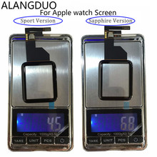 ALANGDUO Original Touch Panel For Apple Watch LCD Screen Front Glass Lens Digitizer Sensor 38mm/42mm Sport Version
