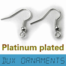 Wholesale Jewelry Findings Surgical Stainless steel Silver Earring Hooks Nickel Free 20mm