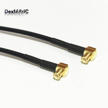 MCX male 90-degree to MCX male plug right angle RF coaxiale cable RG174 20cm for wireless pci card