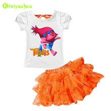 KEAIYOUHUO Toddler Girls Clothing Set 2017 Summer Girls Clothes Set T-shirt+Tutu Skirt Kids Sport Suit For Girl Children Clothes